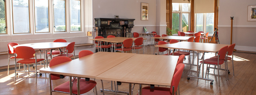 Meeting room set out with cabaret style seating