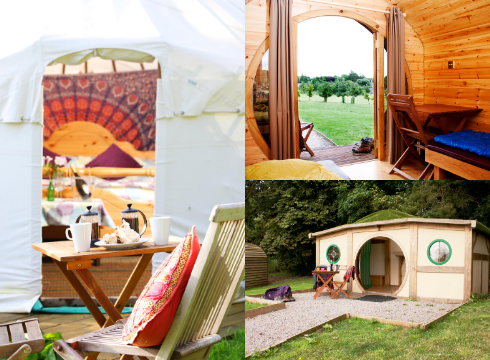 StarGlamping pods and yurt