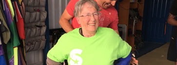 Kathleen's flying high after charity skydive