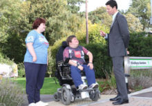 Students talk accessibility with MP Alex Chalk