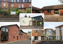 A montage of images of student and long-term residents' residential settings