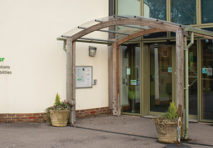 Entrance to the reception of National Star Ullenwood