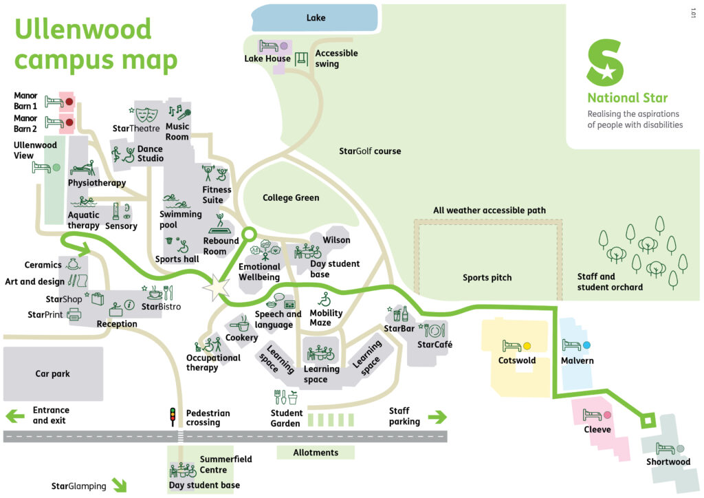 National Star Ullenwood Campus Map