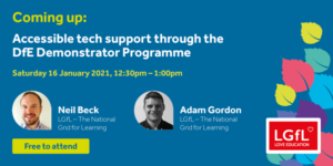 Accessible tech support through the DfE Demonstrator Programme