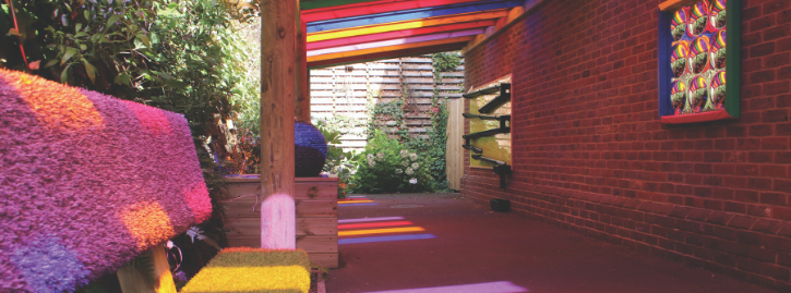 The Rainbow Garden at National Star at Ullenwood