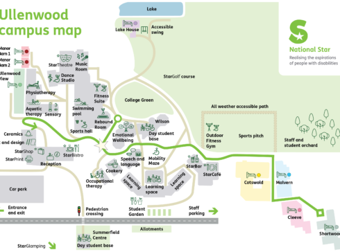 National Star Ullenwood Campus Map 2021
