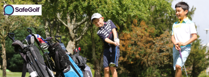 Two young golfers enjoying a round of golf at the StarGolf course