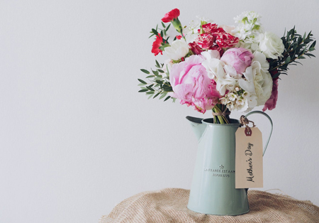 Mother's day flowers in a vase