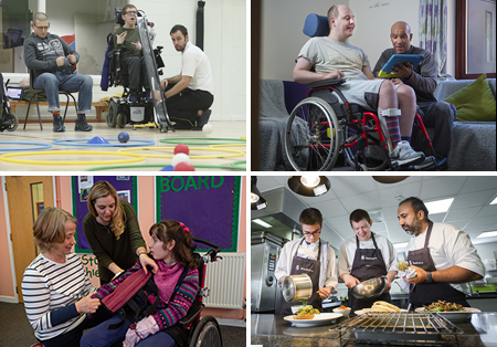 Images showing people undertaking a range of jobs at National Star