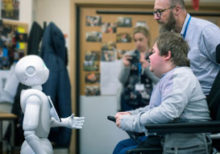 Students get insight into the future with visit from humanoid robot
