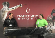 Hartpury University and Hartpury College have come to the aid of National Star and young people with complex disabilities by donating a rugby post protector